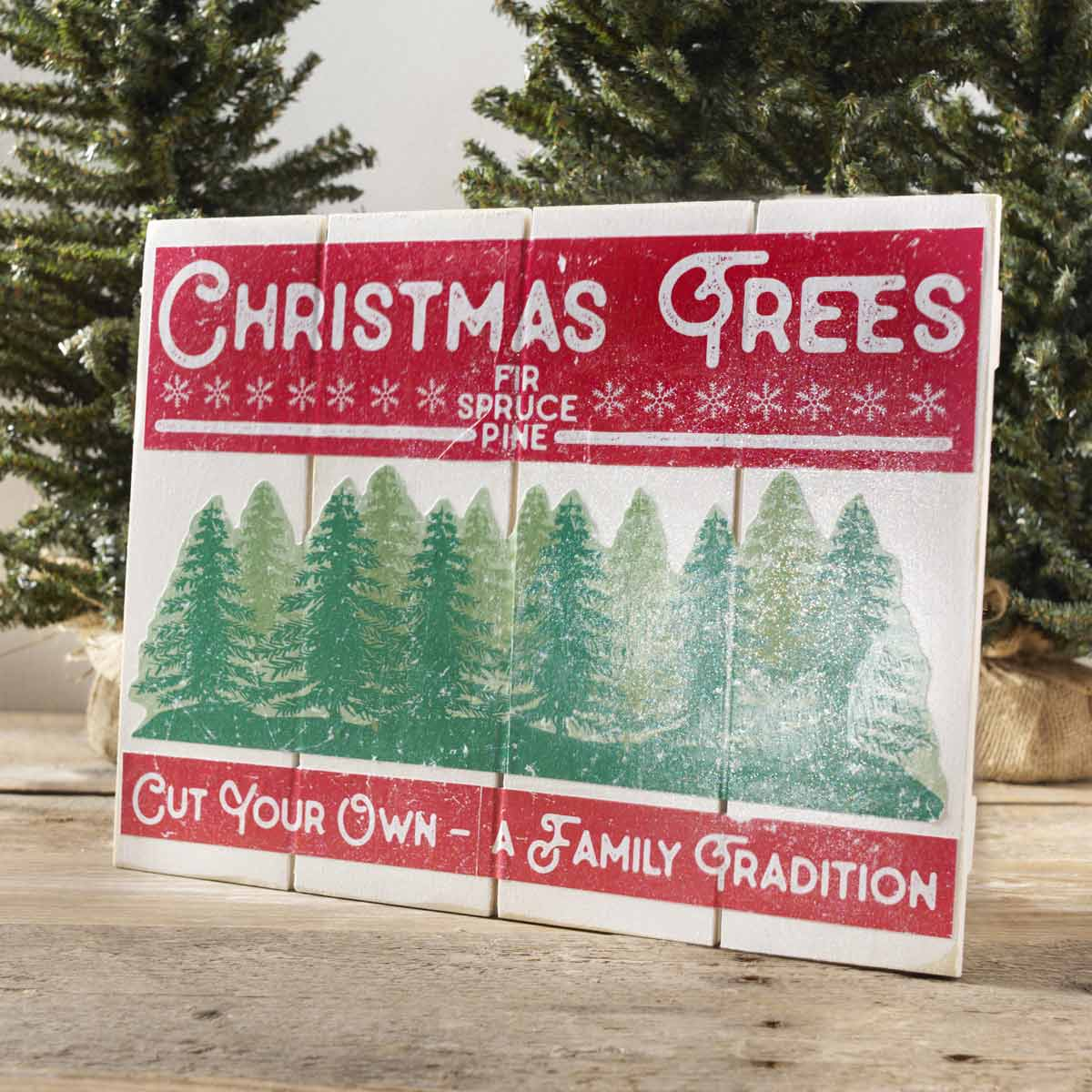 Vintage Christmas Trees Sign