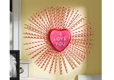 I Love You Paper Straw Wreath