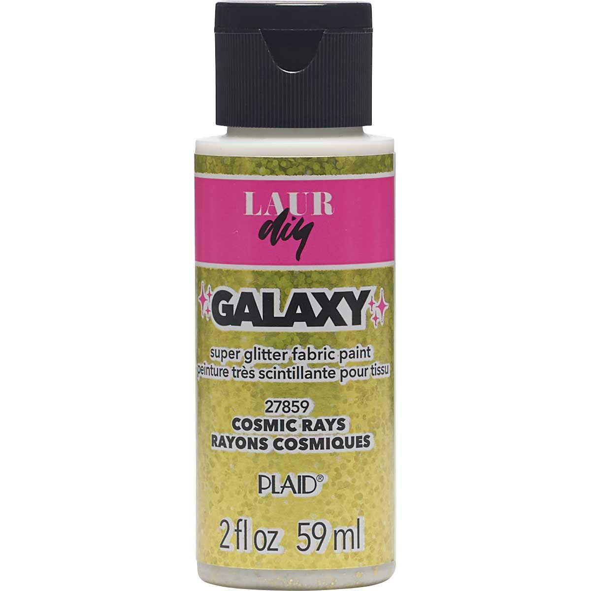 LaurDIY ® Galaxy Glitter Fabric Paint - Cosmic Rays, 2 oz.