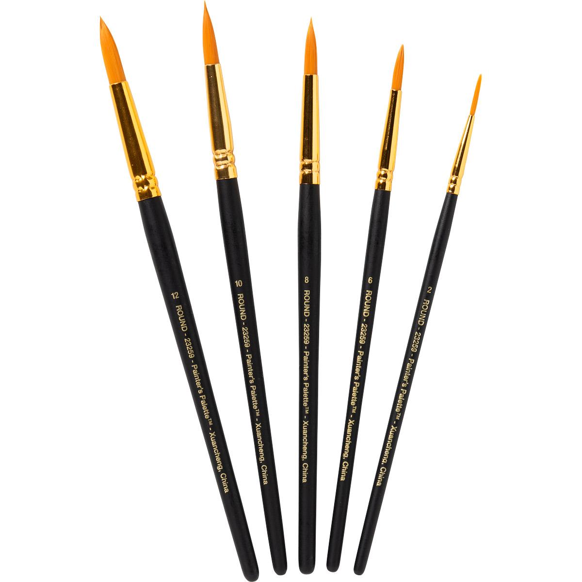 Plaid ® Painter's Palette™ Detail Round Brush Set, 5 pcs.