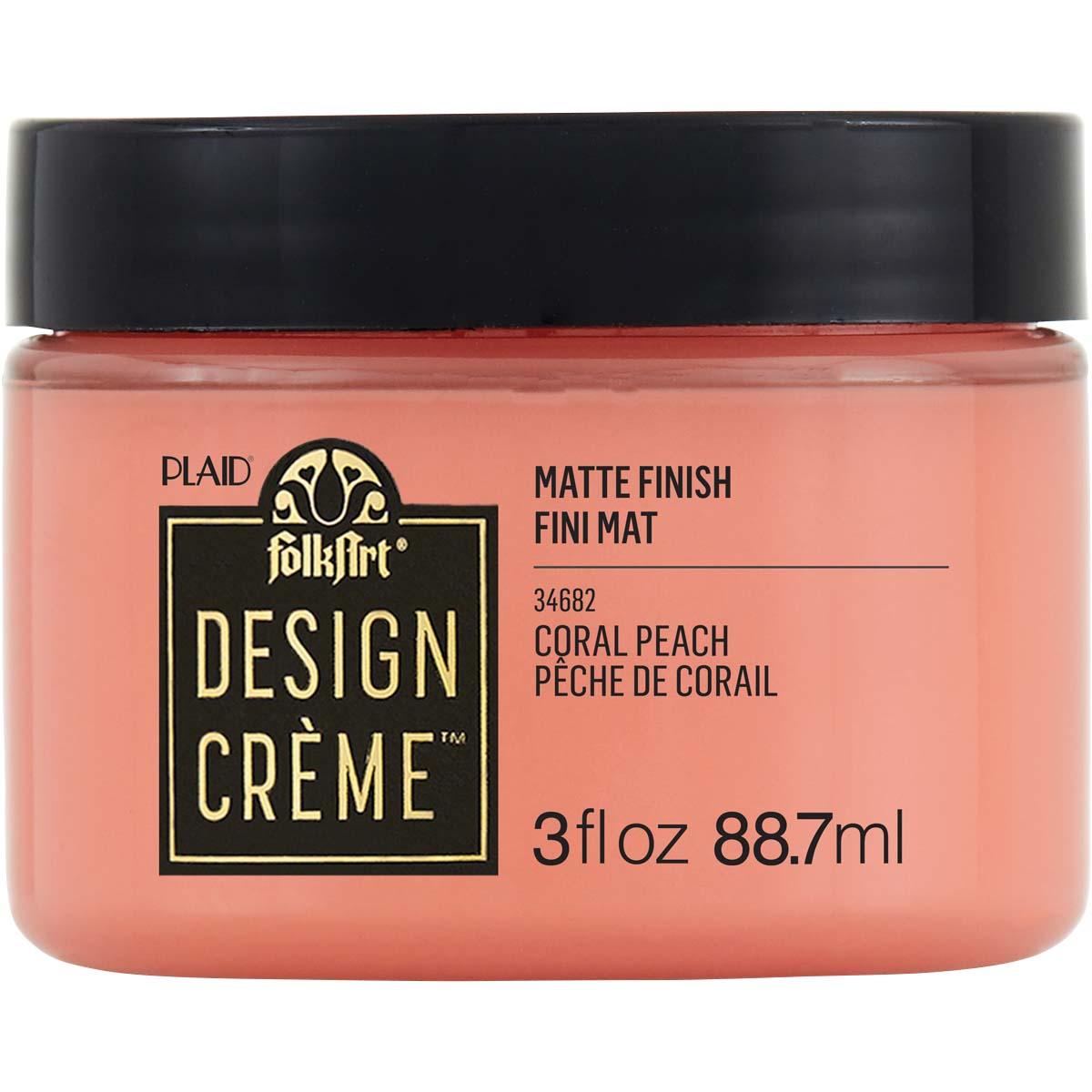 FolkArt ® Design Creme™ - Coral Peach, 3 oz. - 34682