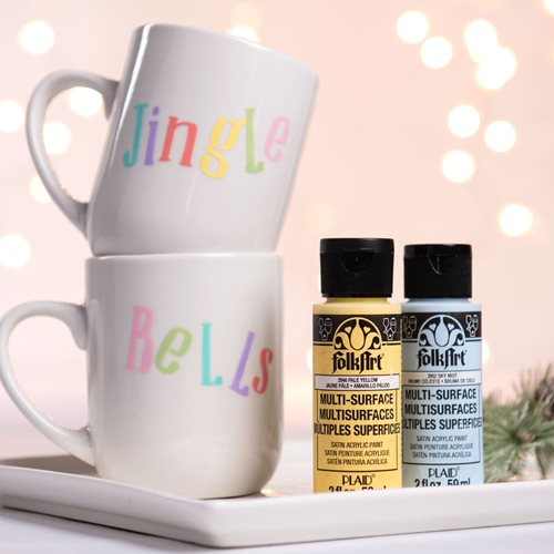Jingle Bells DIY Painted Mugs