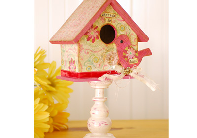 Pretty in Pink Bird and House