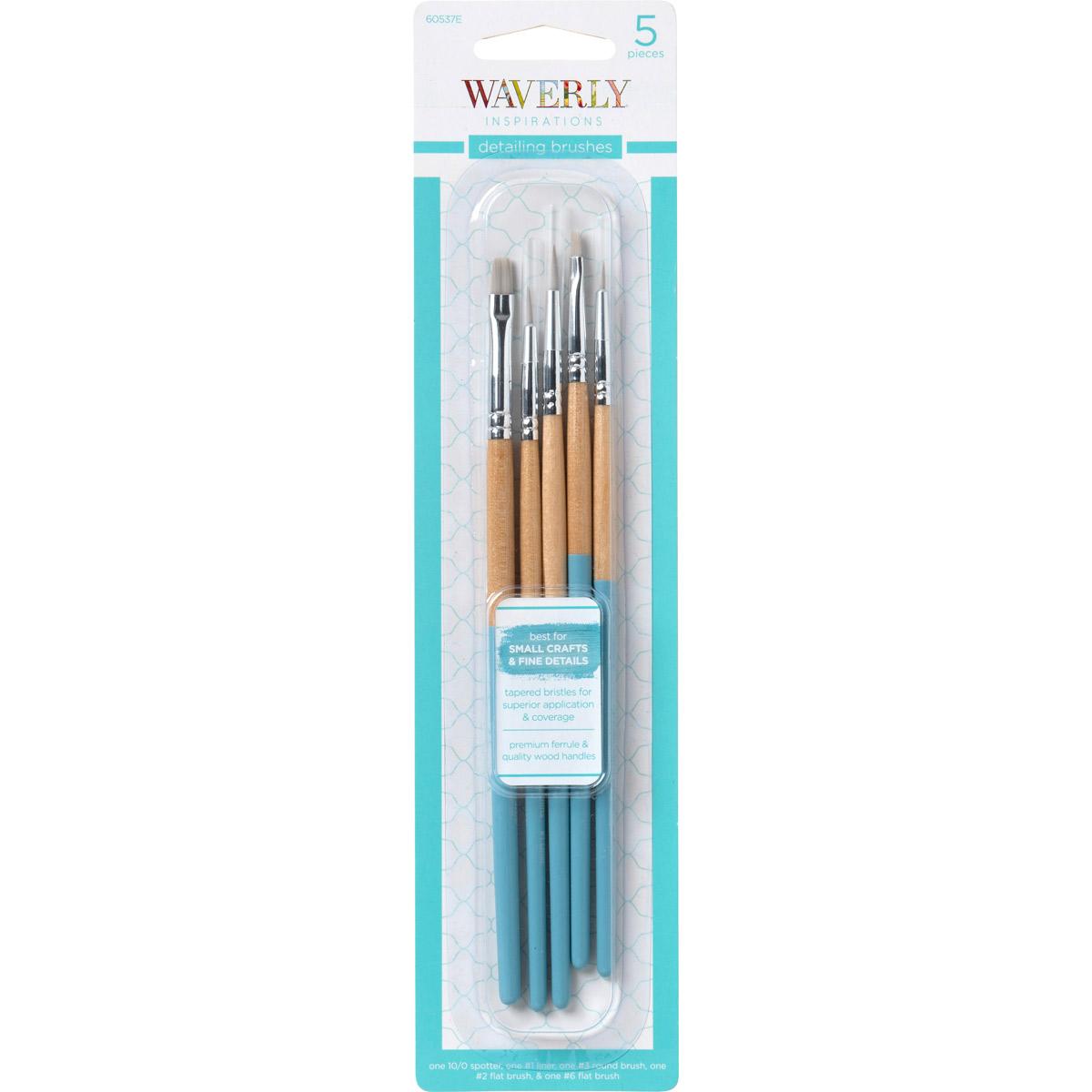 5pc Standard Flat Brush Set