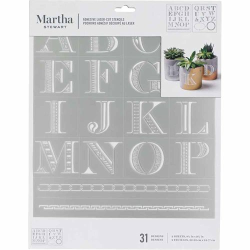 Martha Stewart ® Adhesive Stencil - Detailed Monogram - 5678