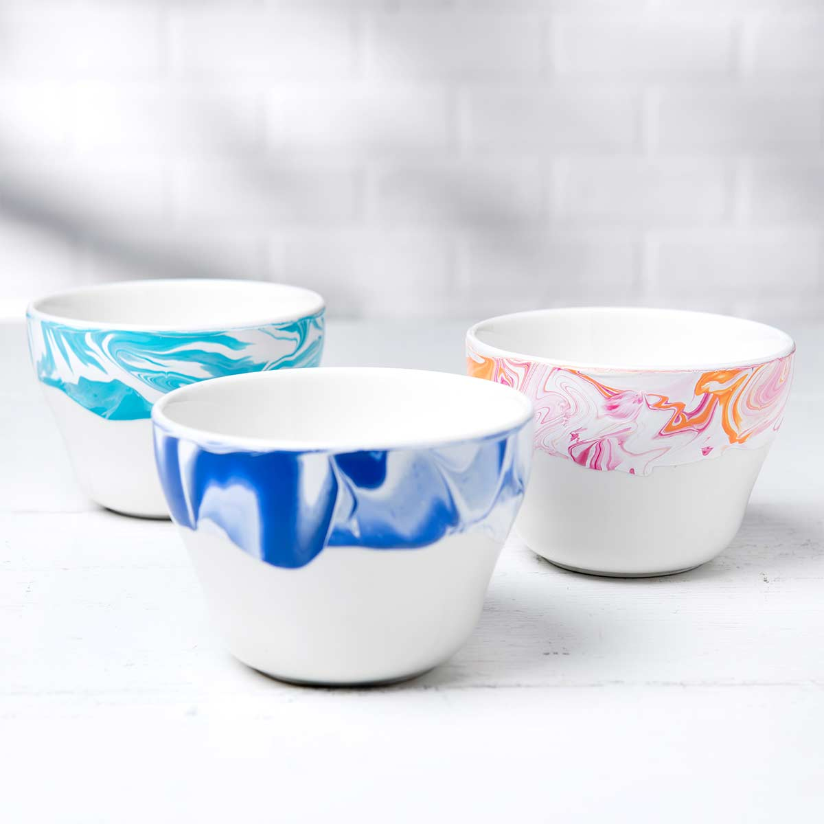 DIY Marbled Bowls