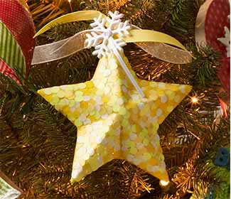 Mod Podge Glow in the Dark Star Ornament