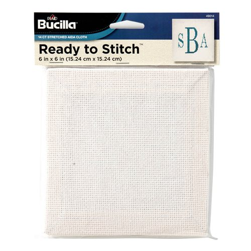 "Bucilla ® Ready to Stitch™ Blanks - Counted Cross Stitch - White, 6"" x 6"" - 49014"