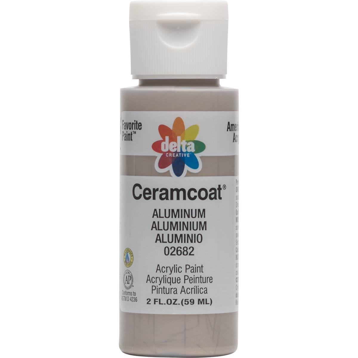 Delta Ceramcoat ® Acrylic Paint - Metallic Aluminum, 2 oz.