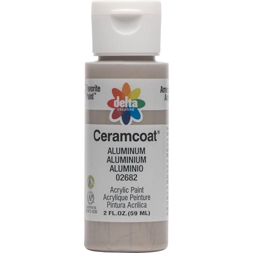 Delta Ceramcoat ® Acrylic Paint - Metallic Aluminum, 2 oz.