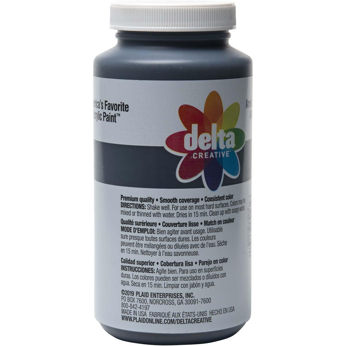 Delta Ceramcoat ® Acrylic Paint - Black, 16 oz.