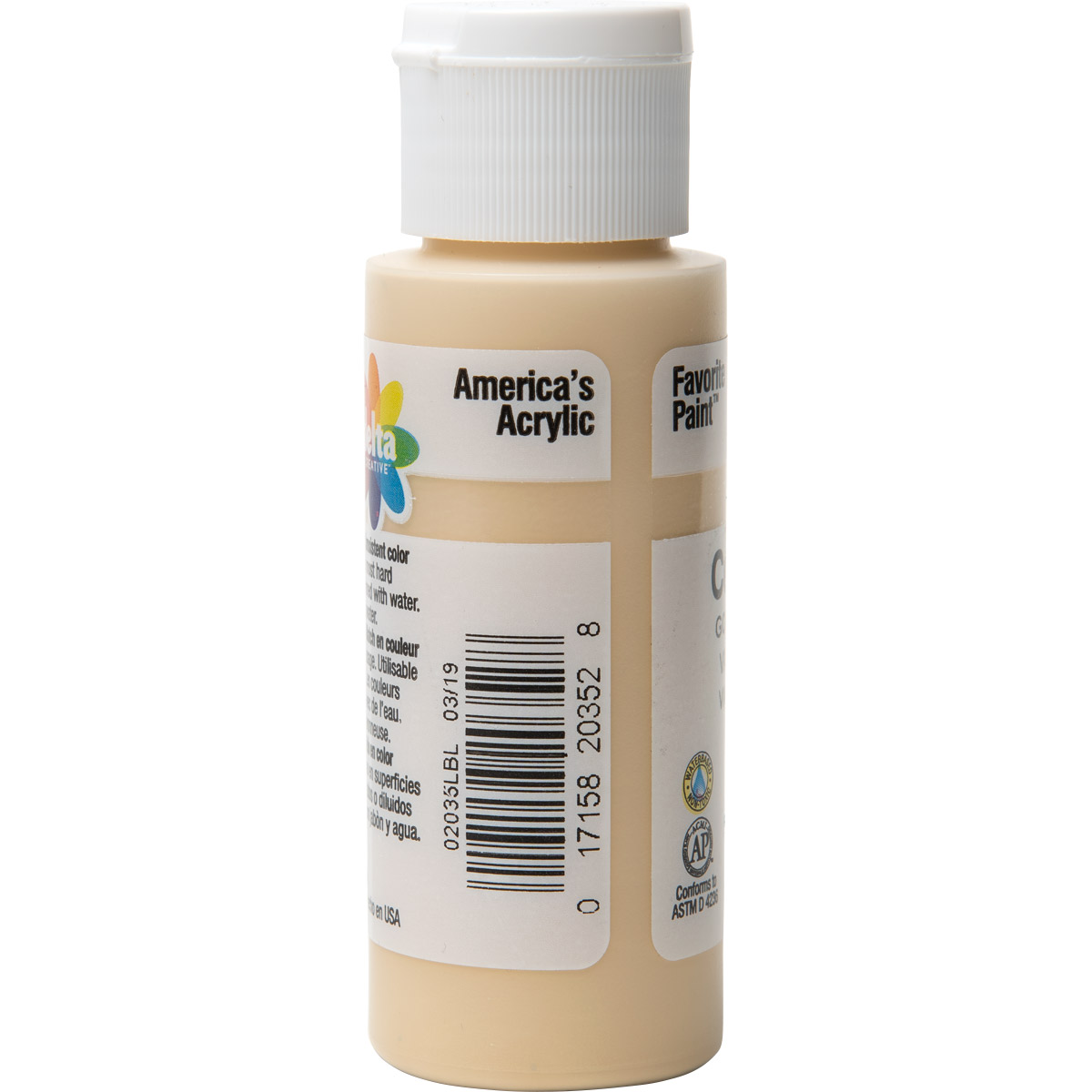 Delta Ceramcoat ® Acrylic Paint - Golden Vanilla, 2 oz. - 020350202W