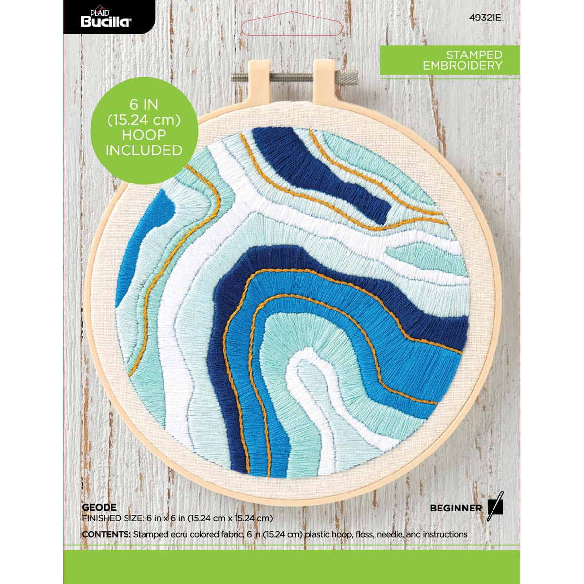 Bucilla ® Stamped Embroidery - Geode - 49321E