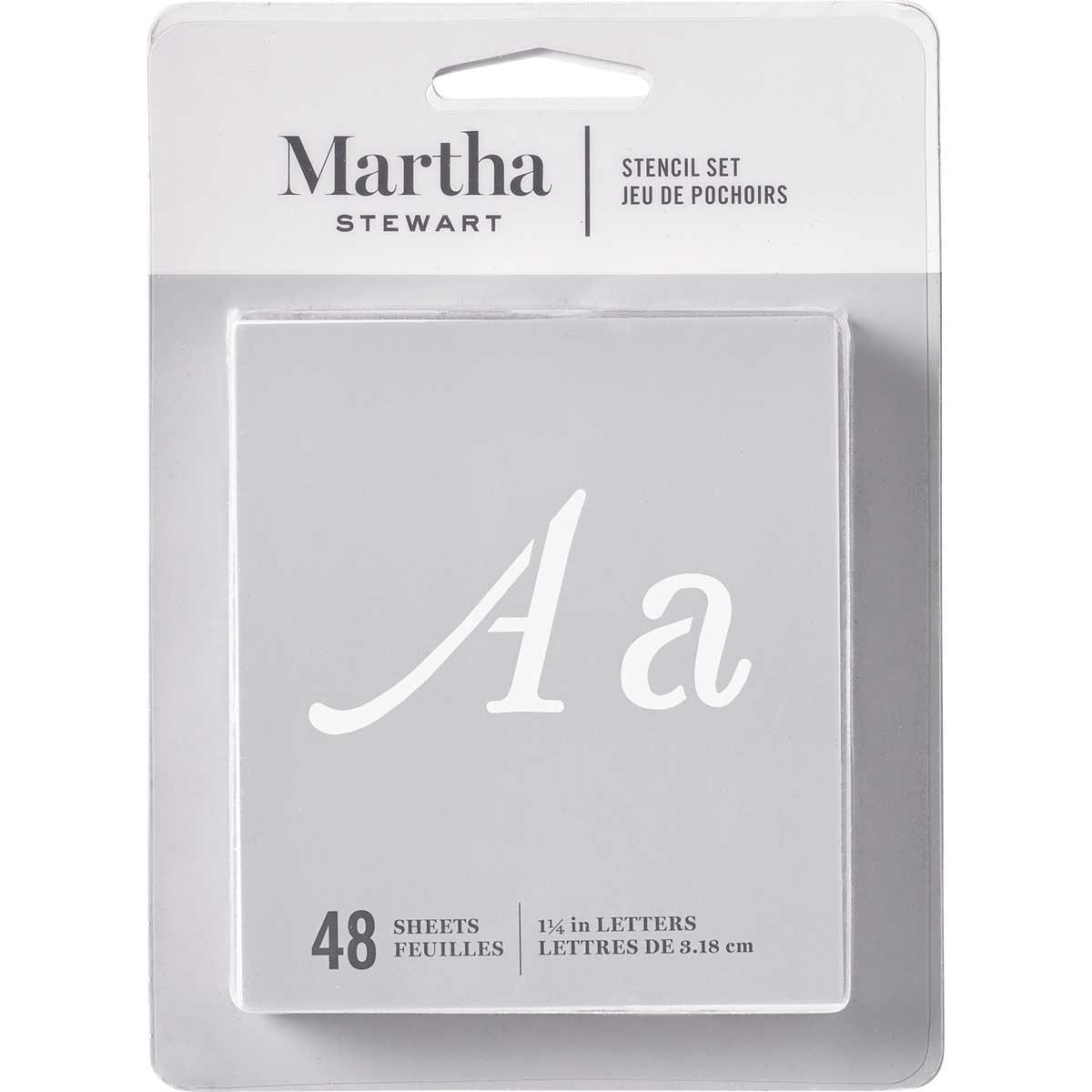 Martha Stewart ® Paper Stencil Set - Monogram Flourish Alphabet, 36 pc. - 32988