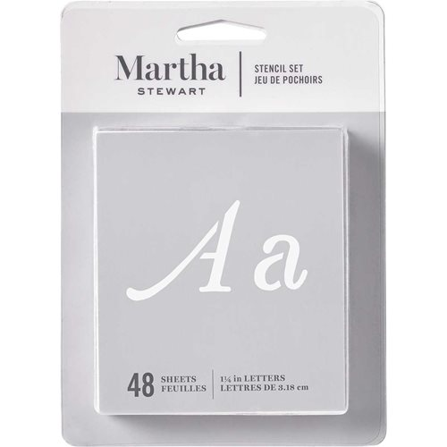 Martha Stewart ® Paper Stencil Set - Monogram Flourish Alphabet, 36 pc.