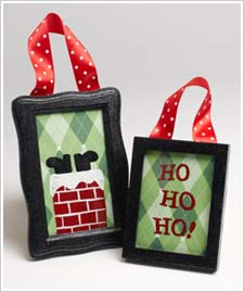 Santa Frame Ornaments