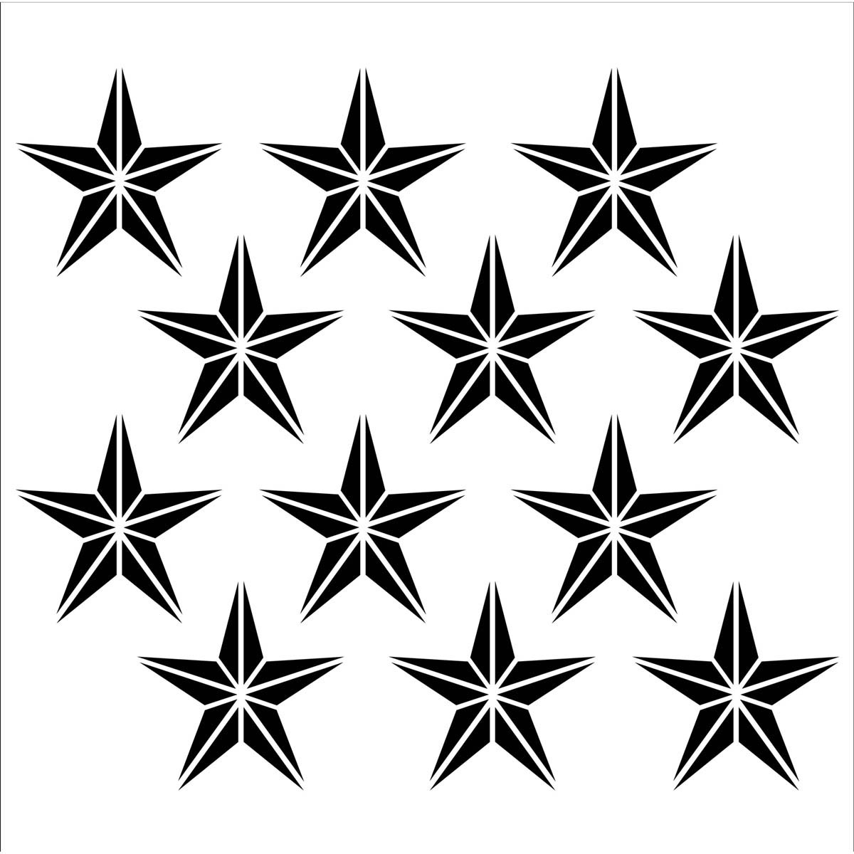 FolkArt ® Painting Stencils - Large - Stars Forever