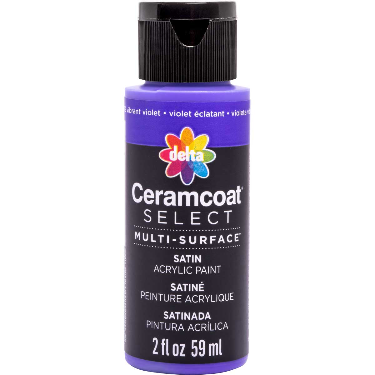 Delta Ceramcoat ® Select Multi-Surface Acrylic Paint - Satin - Vibrant Violet, 2 oz. - 04079