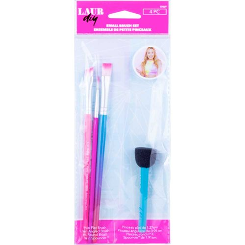 LaurDIY ® Brush Set - Small, 4 pc.