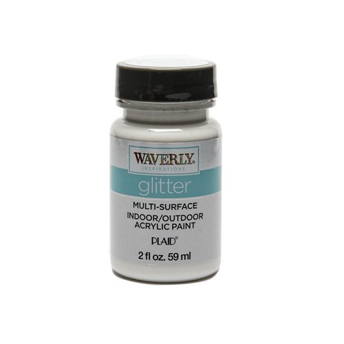 Waverly ® Inspirations Glitter Multi-Surface Acrylic Paint - White Opal, 2 oz. - 60928E