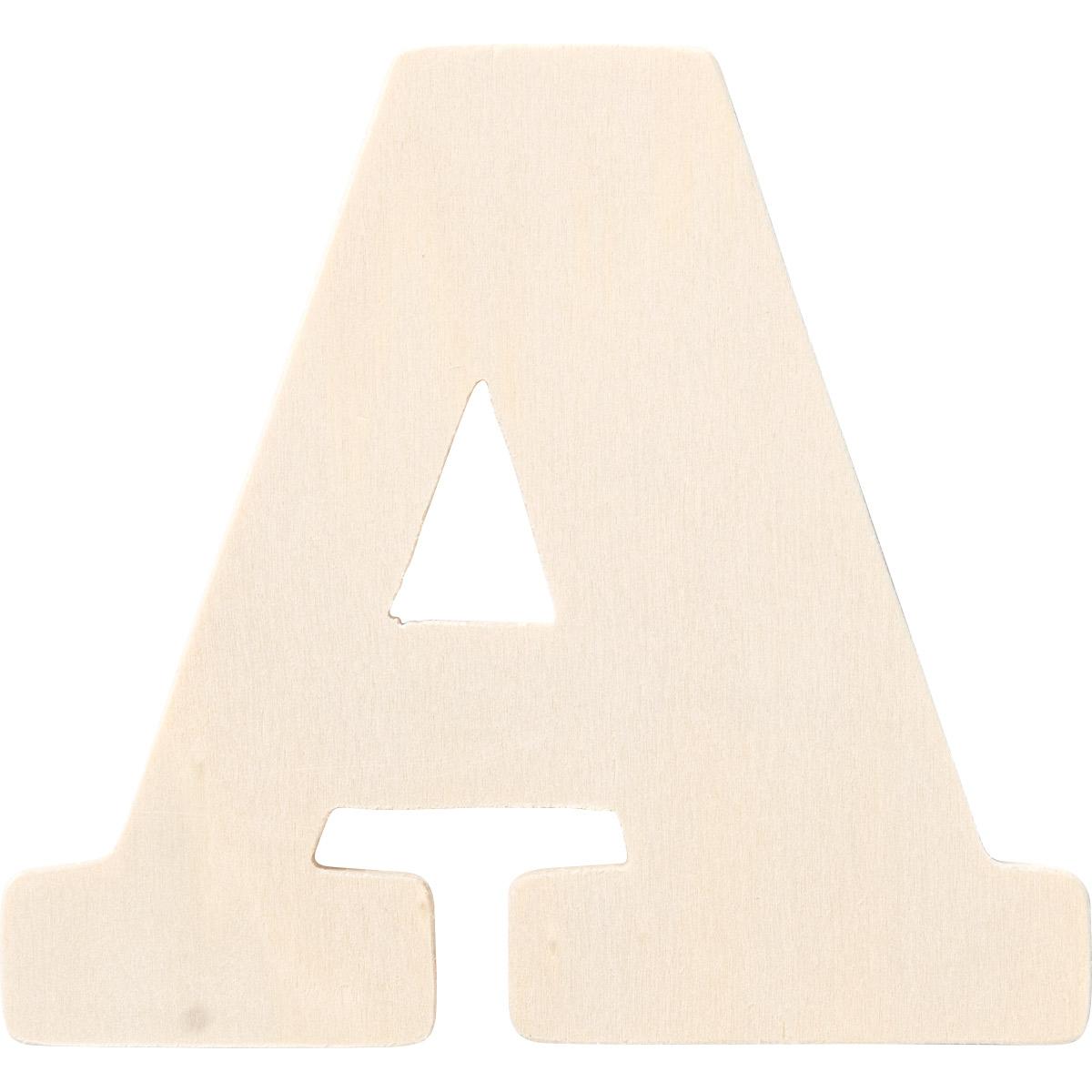 Plaid ® Painter's Palette™ Wood Letter - A. 4 inch