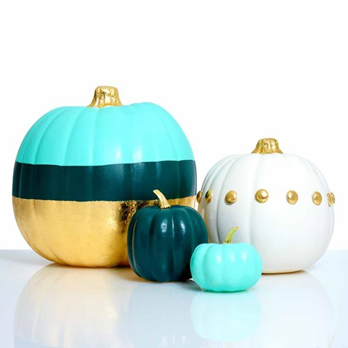 FolkArt Gold Leaf Pumpkins