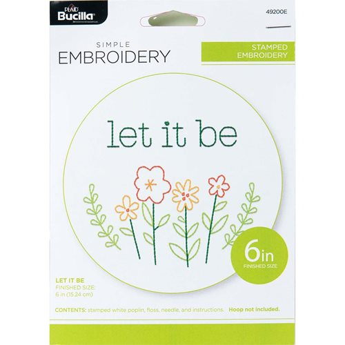 Bucilla ® Stamped Embroidery - Let It Be - 49200E