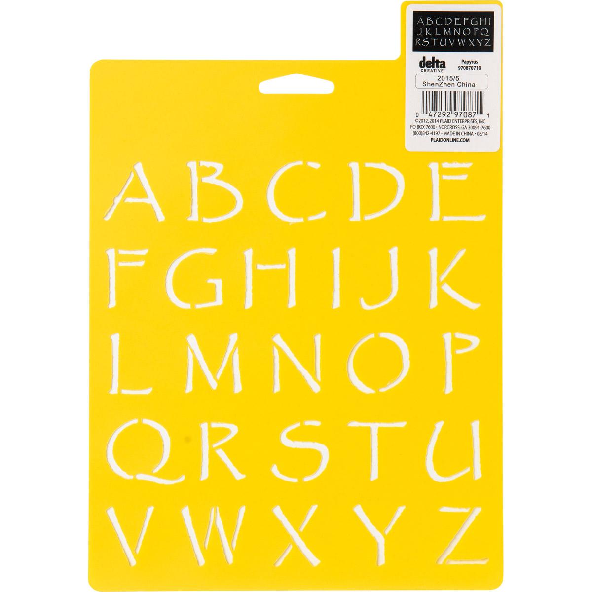 Delta Stencil Mania™ - Alphabet - Papyrus
