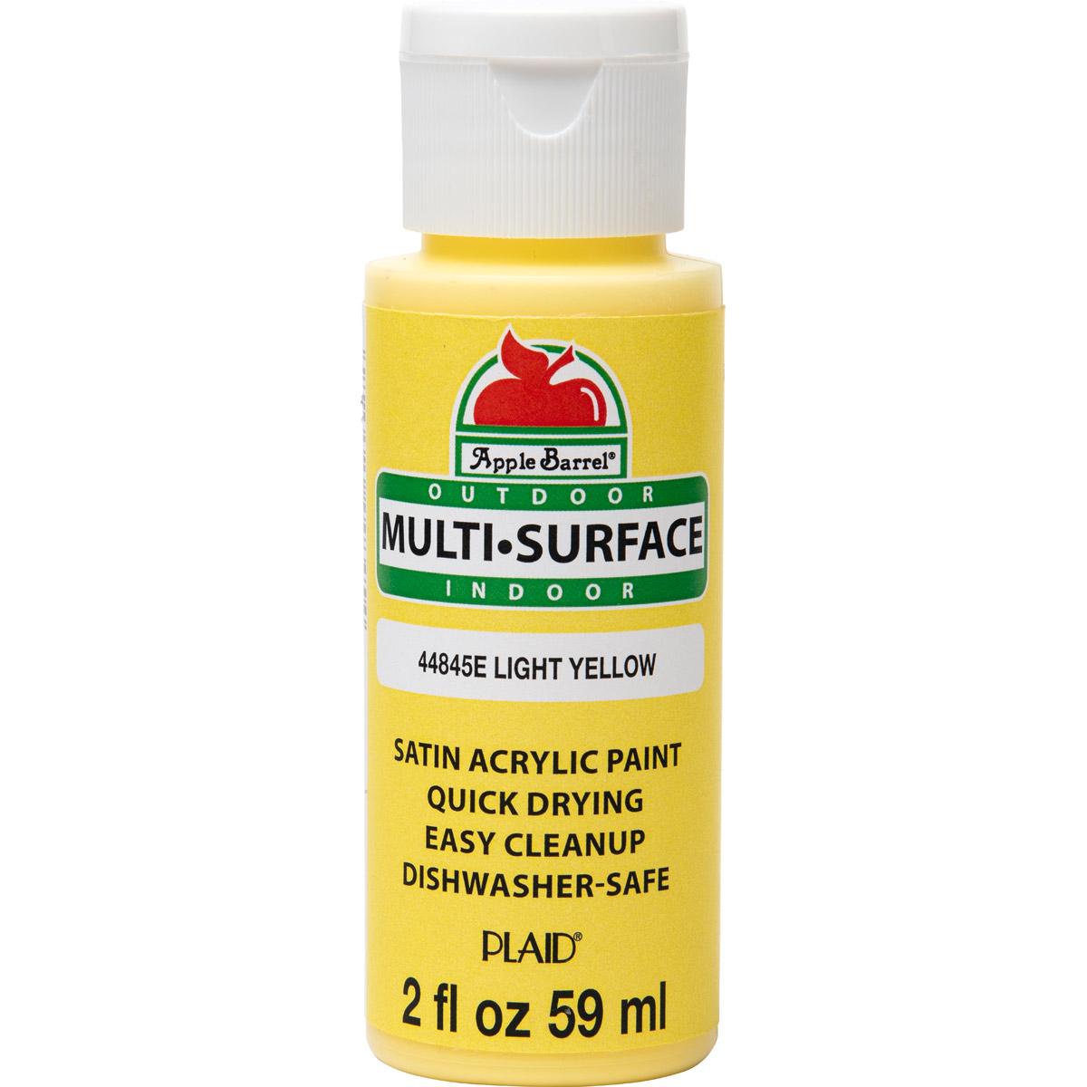 Apple Barrel ® Multi-Surface Satin Acrylic Paints - Light Yellow, 2 oz. - 44845E