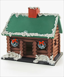 Holiday Lincoln Log House