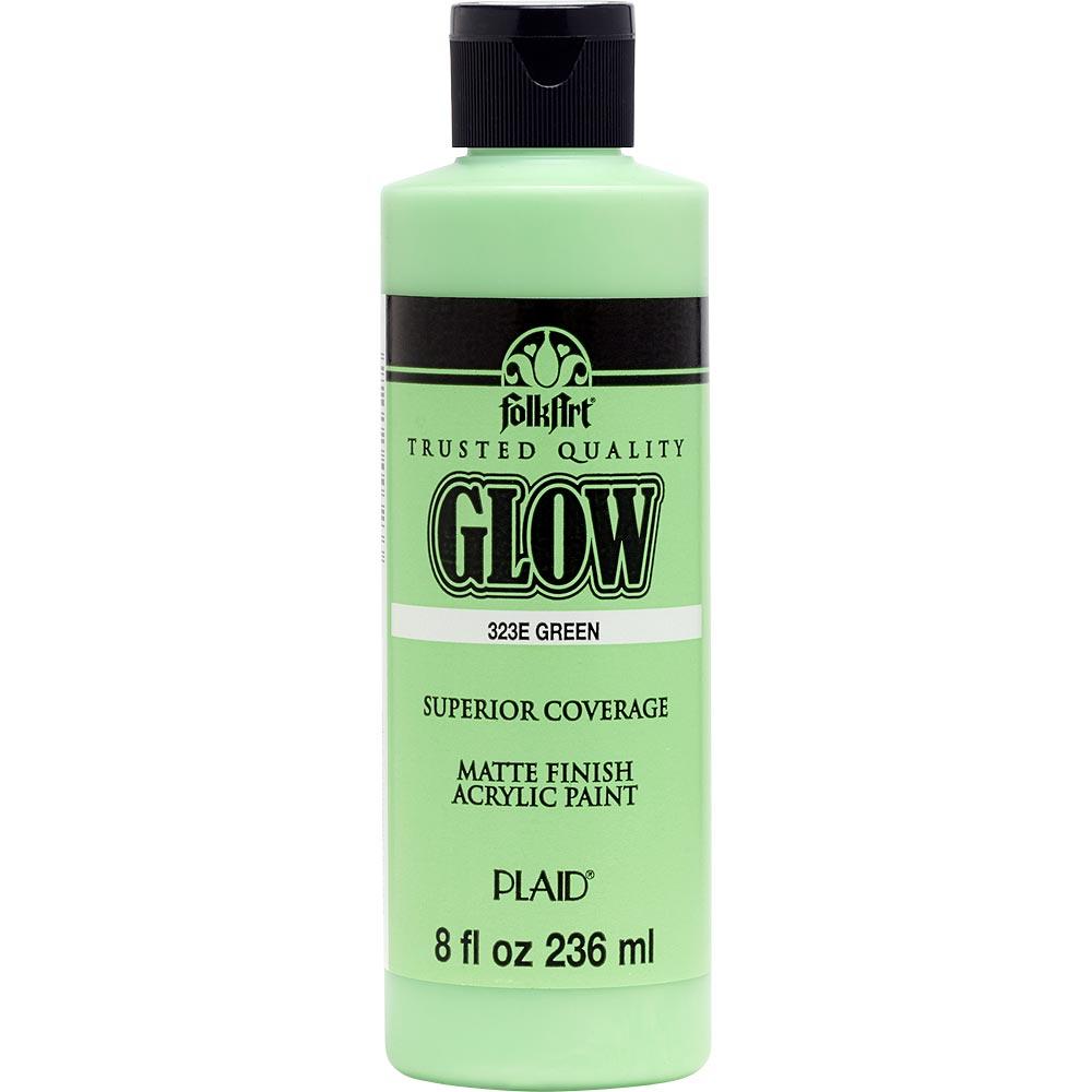 FolkArt ® Glow-in-the-Dark Acrylic Colors - Green, 8 oz.