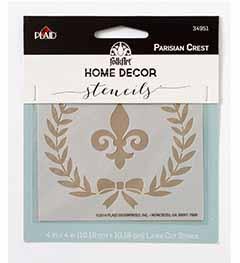 FolkArt ® Home Decor™ Stencils - Parisian Crest - 34951