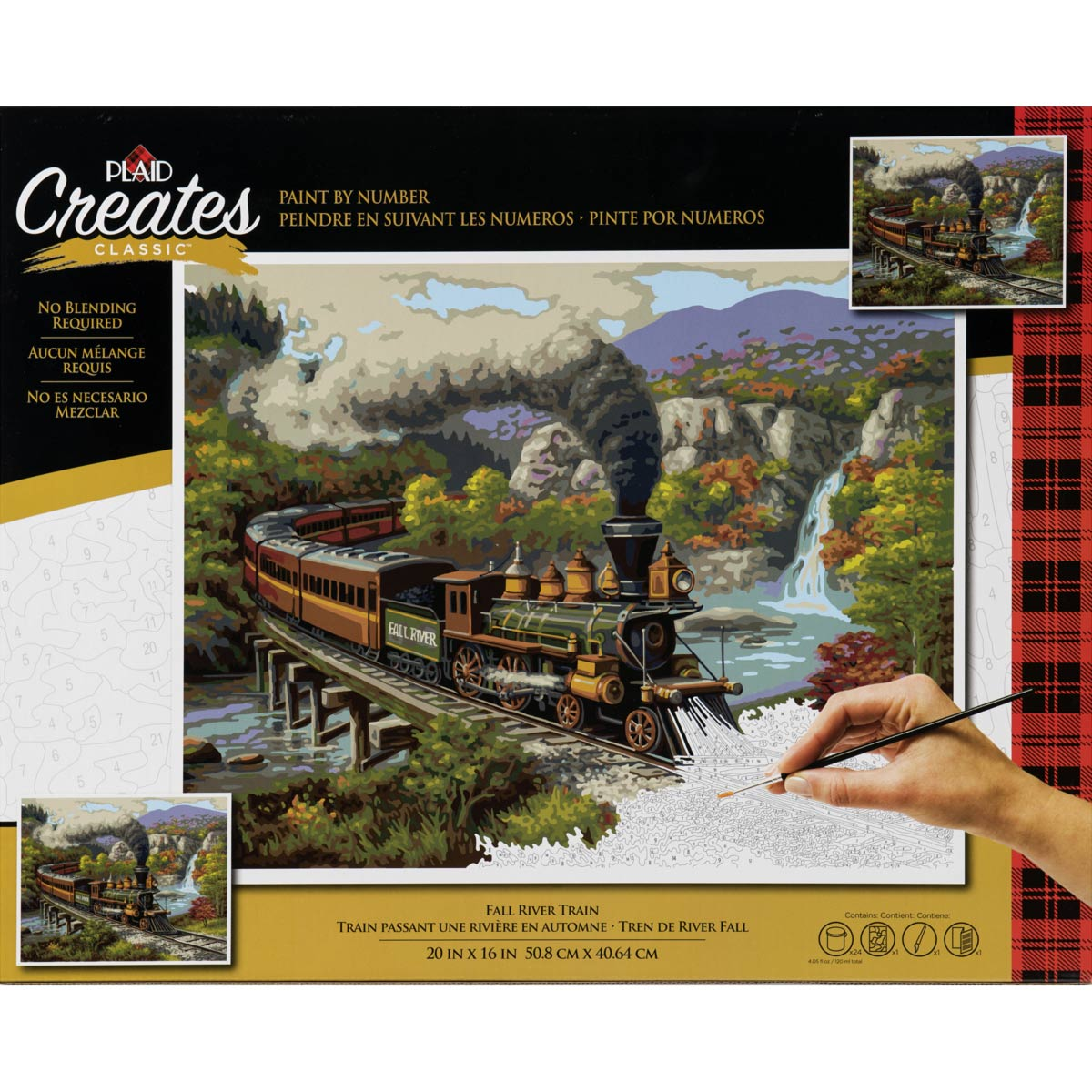 Plaid ® Paint by Number - Fall River Train