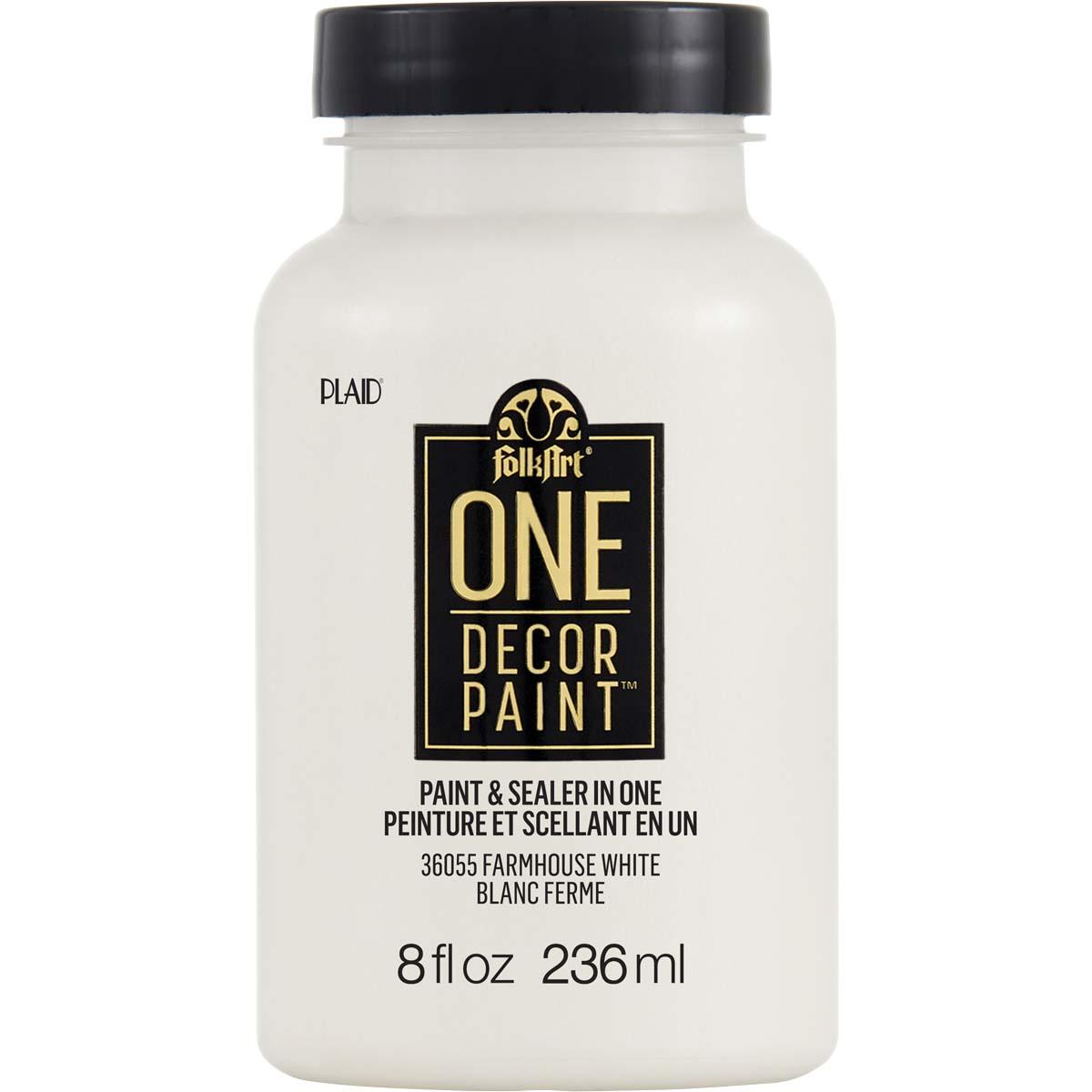 FolkArt ® One Décor Paint™ - Farmhouse White, 8 oz. - 36055