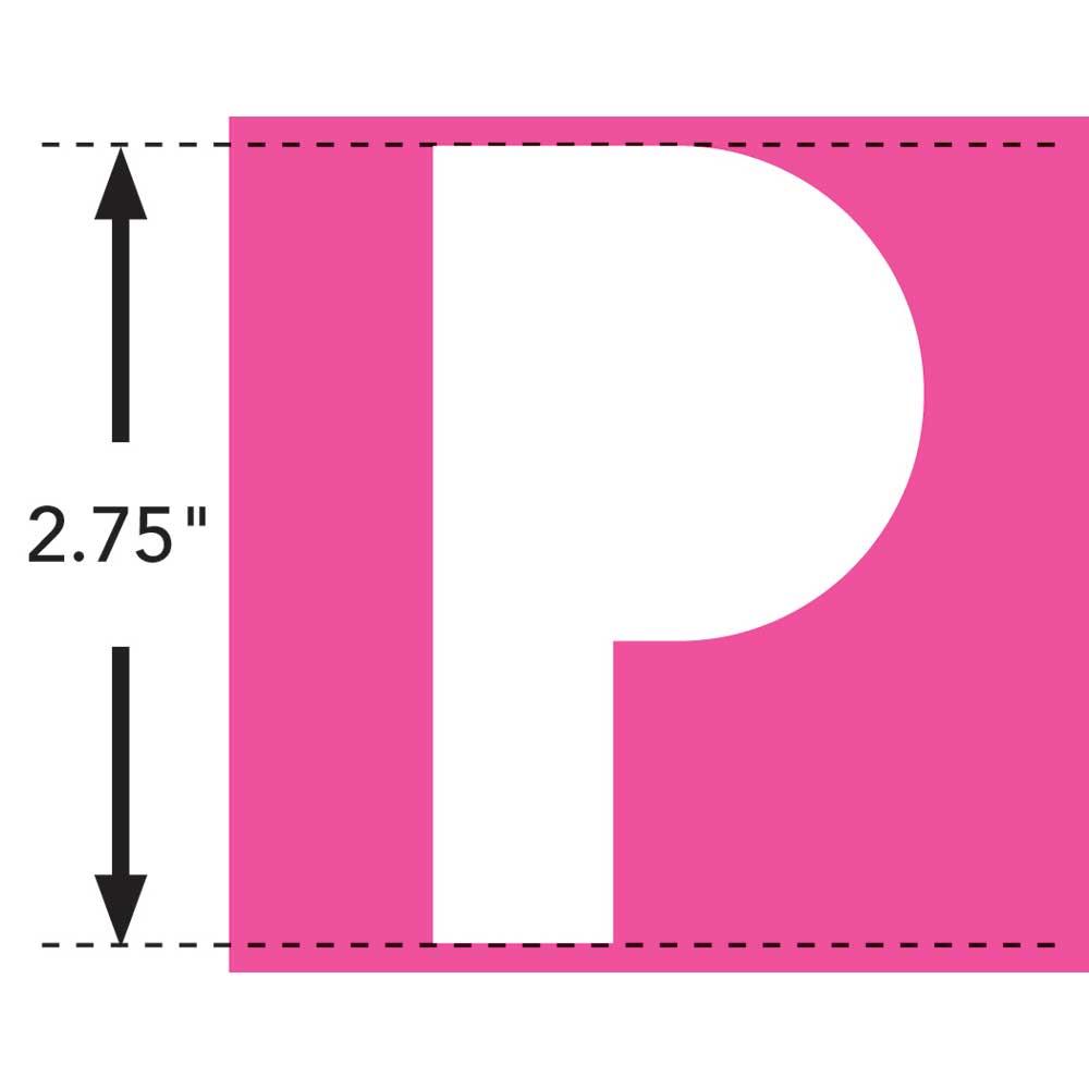 LaurDIY ® Iron-on Fabric Letters - P - 19843