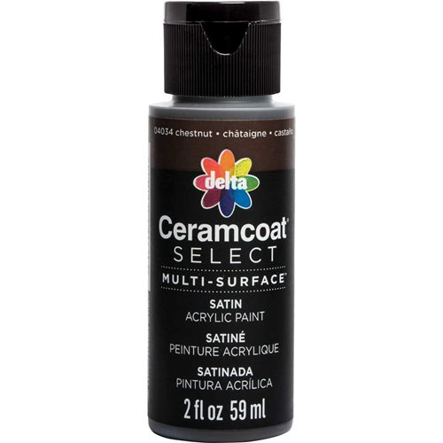 Delta Ceramcoat ® Select Multi-Surface Acrylic Paint - Satin - Chestnut, 2 oz. - 04034