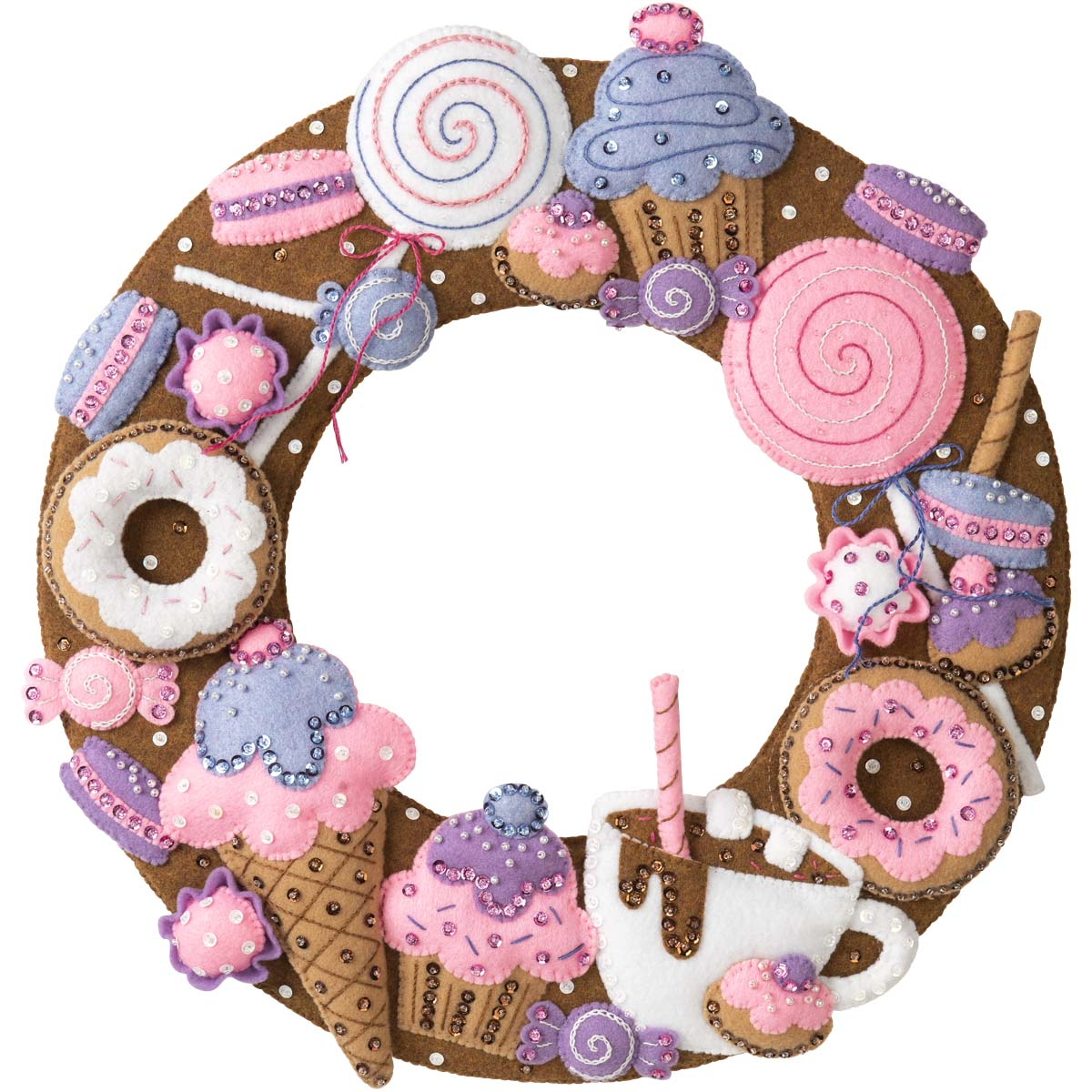 Bucilla ® Seasonal - Felt - Home Decor - Sweet Treats Wreath - 89273E