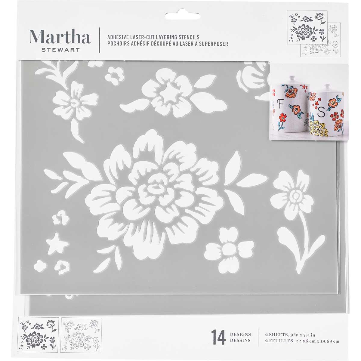 Martha Stewart® Adhesive Stencil - Floral