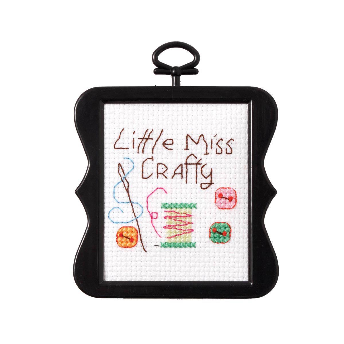 Bucilla ® Counted Cross Stitch - Beginner Stitchery - Mini - Little Miss Crafty - 45739