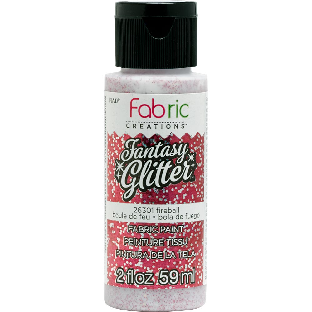 Fabric Creations™ Fantasy Glitter™ Fabric Paint - Fireball, 2 oz. - 26301