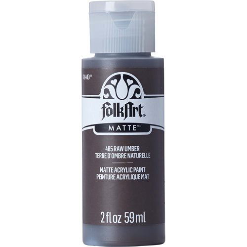 FolkArt ® Acrylic Colors - Raw Umber, 2 oz. - 485