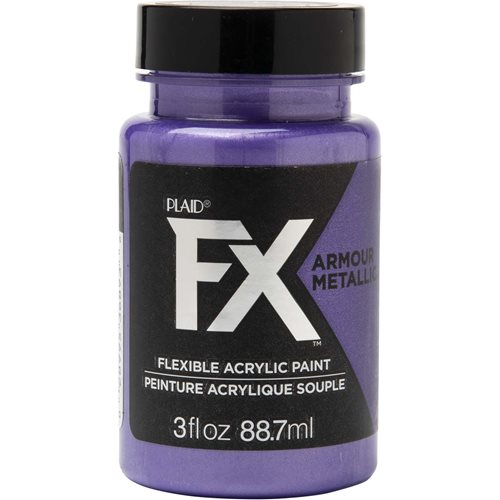 PlaidFX Armour Metal Flexible Acrylic Paint - Heiress, 3 oz. - 36893