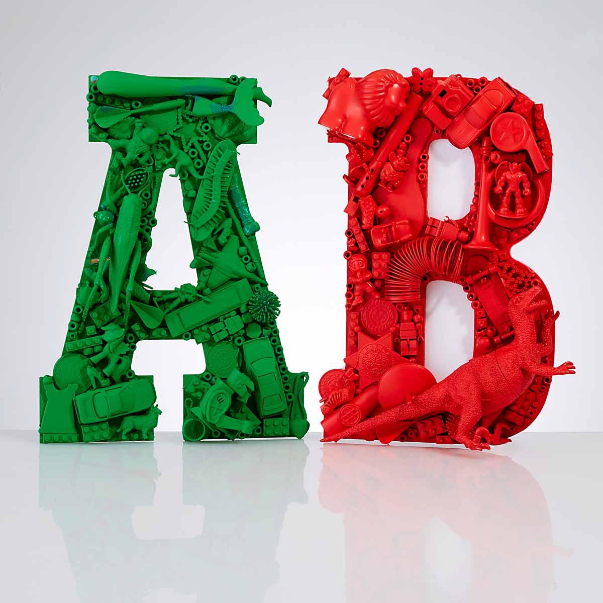 Bold Monogram Letters