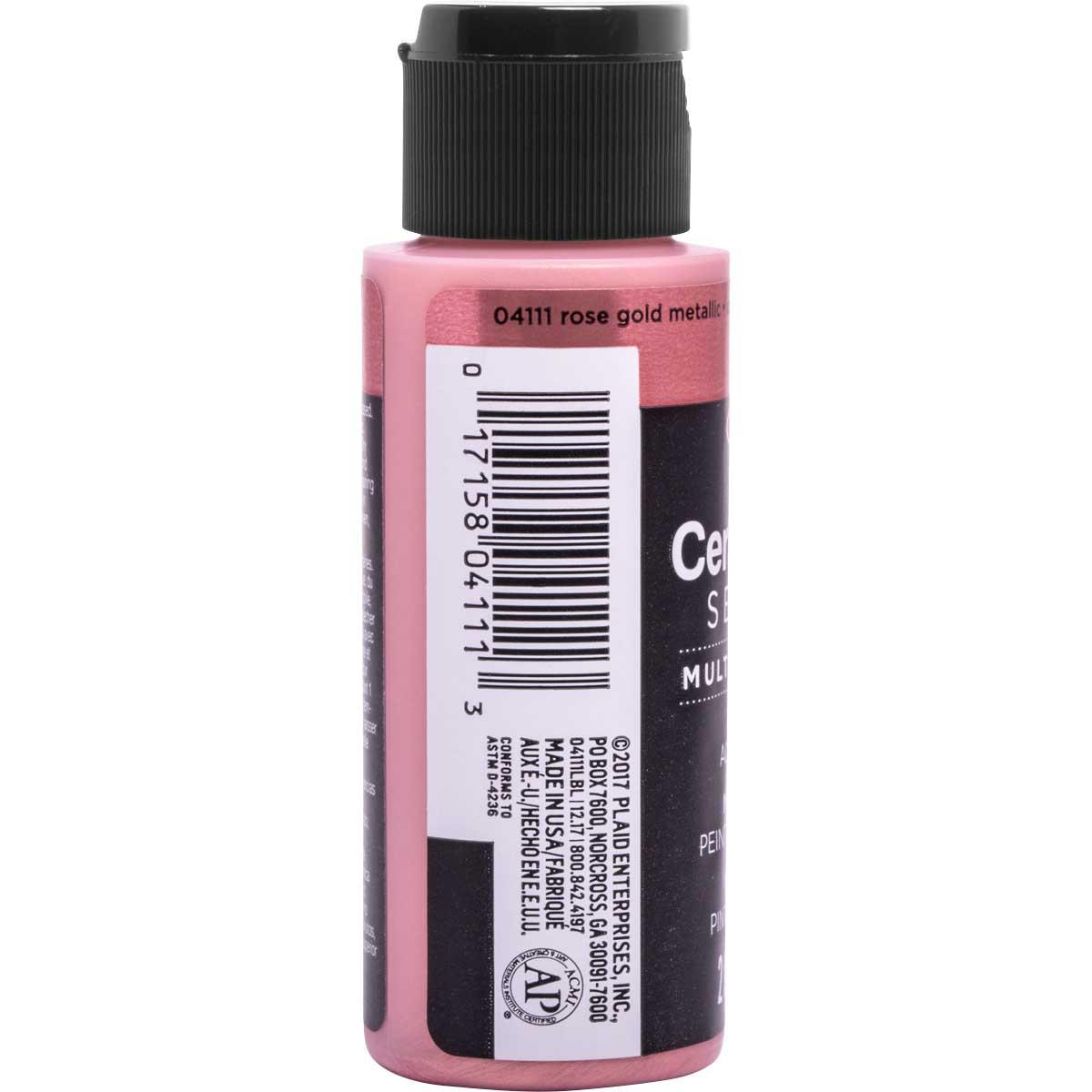 Delta Ceramcoat ® Select Multi-Surface Acrylic Paint - Metallic - Rose Gold, 2 oz.