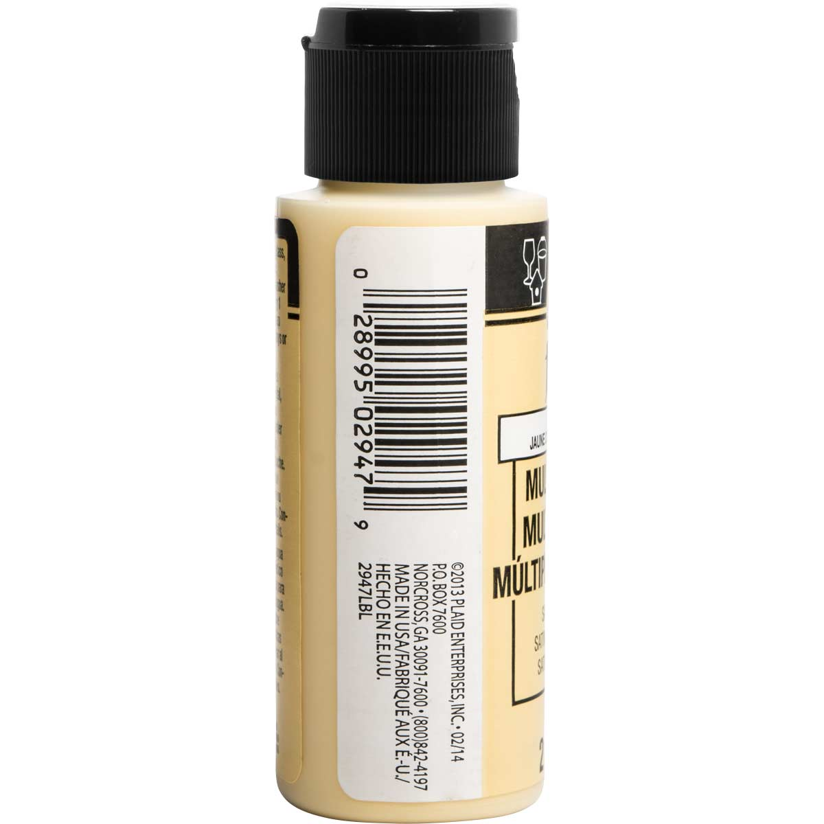FolkArt ® Multi-Surface Satin Acrylic Paints - Pale Yellow, 2 oz. - 2946