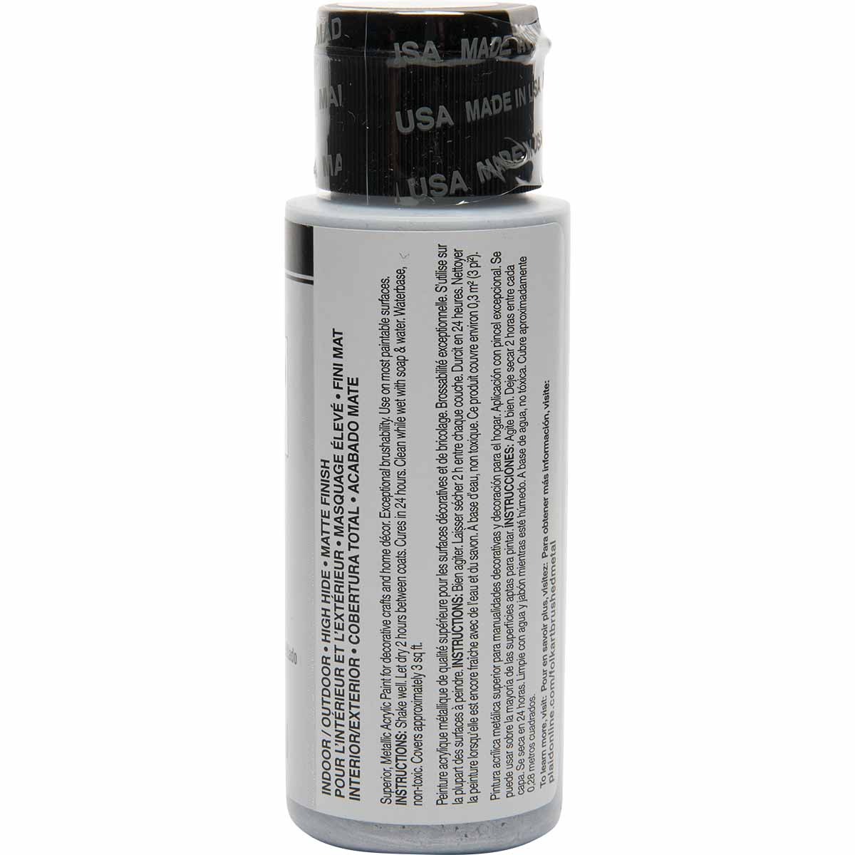 FolkArt ® Brushed Metal™ Acrylic Paint - Pale Silver, 2 oz. - 5118