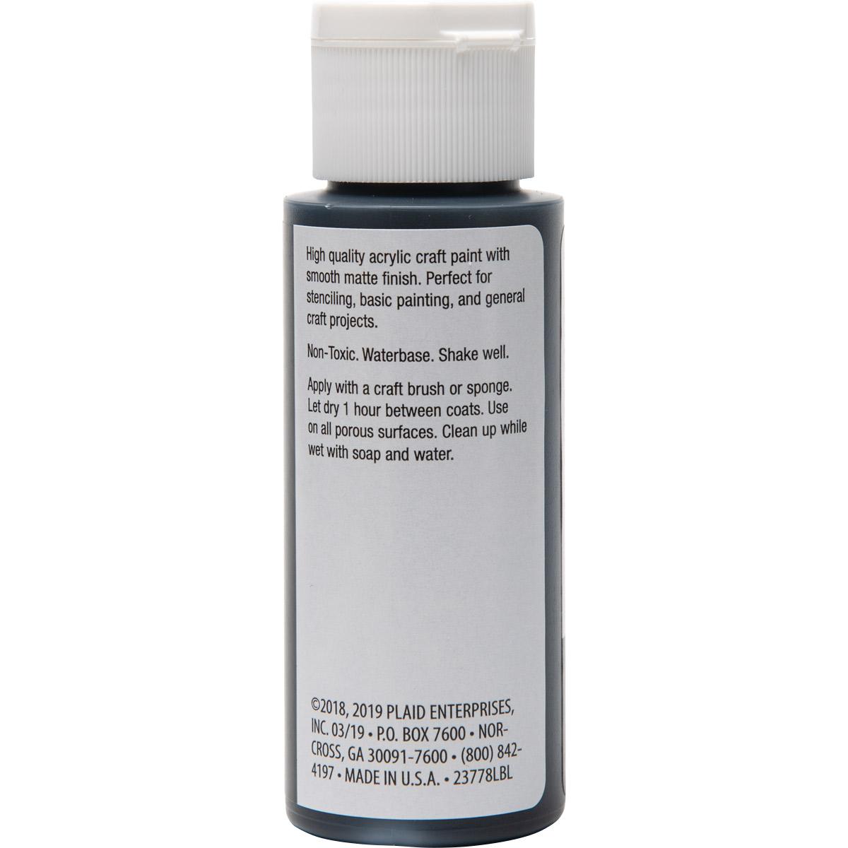 Plaid ® Painter's Palette™ Acrylic Paint - Black, 2 oz.