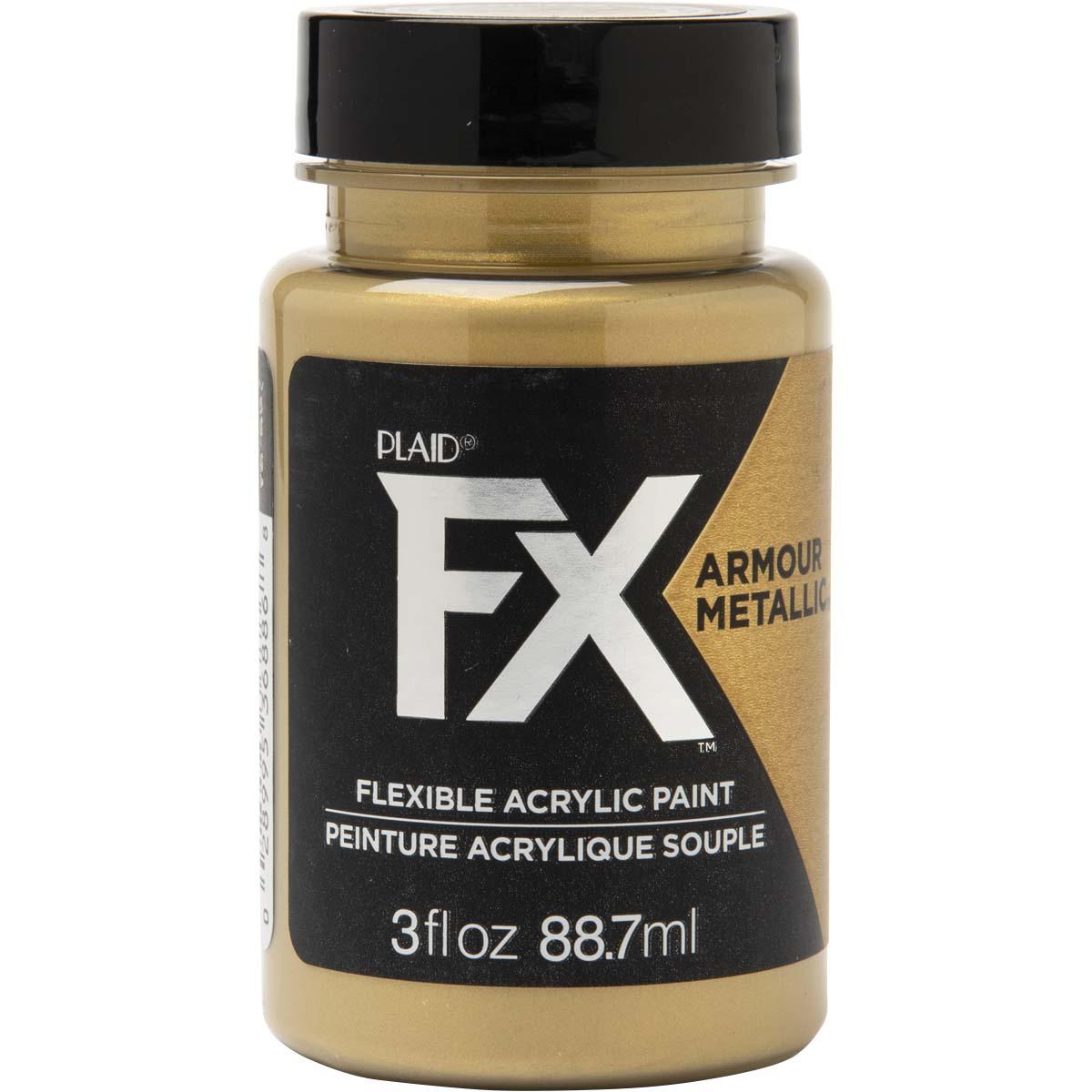 PlaidFX Armour Metal Flexible Acrylic Paint - Golden Hour, 3 oz. - 36886
