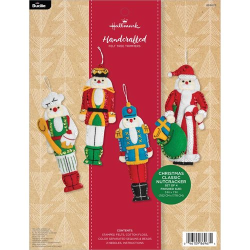 Bucilla ® Seasonal - Felt - Ornament Kits - Hallmark - Christmas Classic Nutcracker