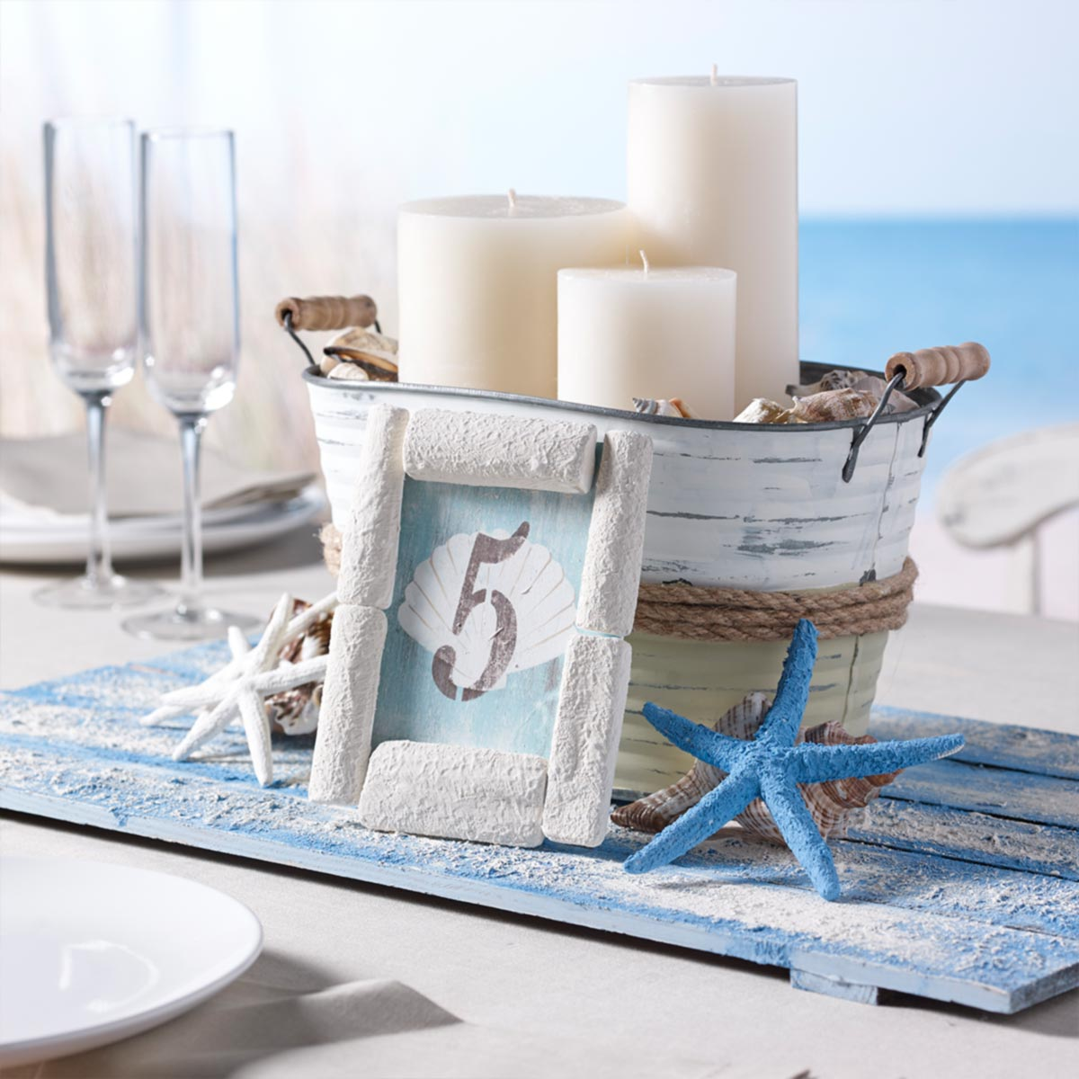 DIY Centerpiece for Beach Wedding